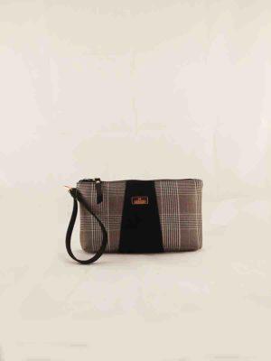 Τσάντα χειρός Μαύρο-Καρώ (μεγάλη)