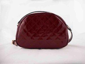 34f51c29b1 Τσάντα χιαστί Μπορντώ λουστρίνι - Hunter Accessories