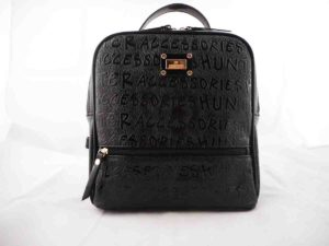 Τσάντα πλάτης Μαύρη (τετράγωνη)