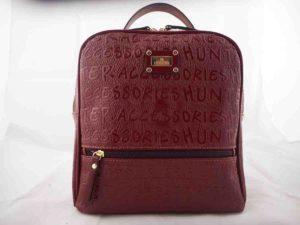 Τσάντα πλάτης Μπορντώ (τετράγωνη) - Hunter Accessories 6fcb1433945