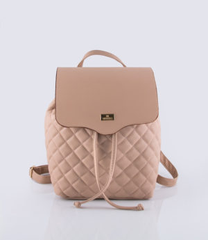 Basic quilted backpack bucket Nude