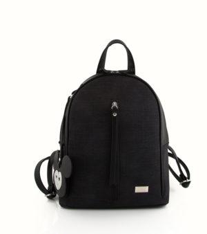 Jeans backpack (μεσαίο) Μαύρο