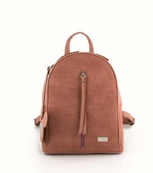 Jeans backpack (μεσαίο) Ροζ