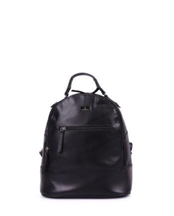 Δερμάτινη γυναικεία τσάντα πλάτης Μαύρο