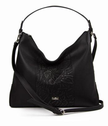 Γυναικεία τσάντα ώμου Crumpled Μαύρο