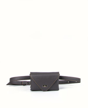 Strict luxury belt bag Γκρι