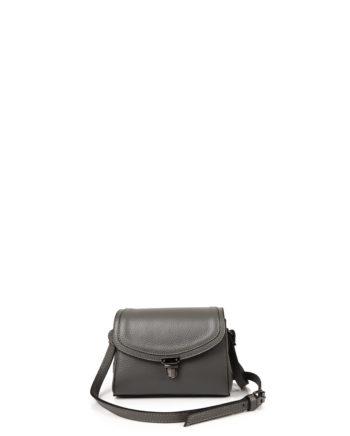 Γυναικεία δερμάτινη τσάντα χιαστί Γκρι