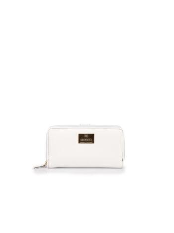 Γυναικείο πορτοφόλι με εξωτερική θήκη F Λευκό