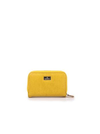 Γυναικείο πορτοφόλι μικρό οβάλ SP Κίτρινο