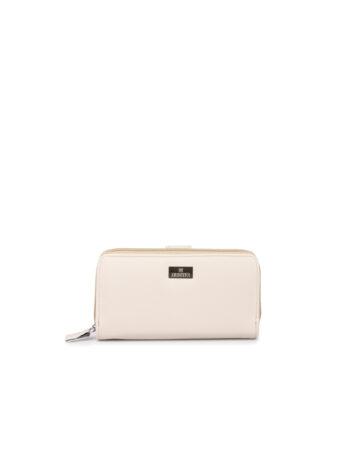 Γυναικείο πορτοφόλι με εξωτερική θήκη Basic Μπεζ