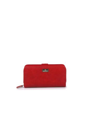 Γυναικείο πορτοφόλι με εξωτερική θήκη Basic Κόκκινο