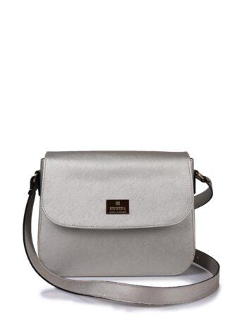 Γυναικεία τσάντα χιαστί GC Ασημί