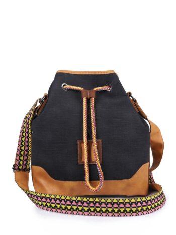 Γυναικεία τσάντα bucket MJ Μαύρο