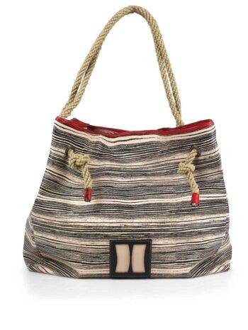 Γυναικεία τσάντα ώμου hobo Stripy Ταμπά