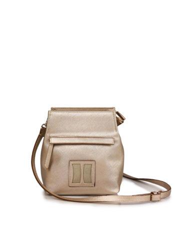 Γυναικεία τσάντα χιαστί F Χρυσό