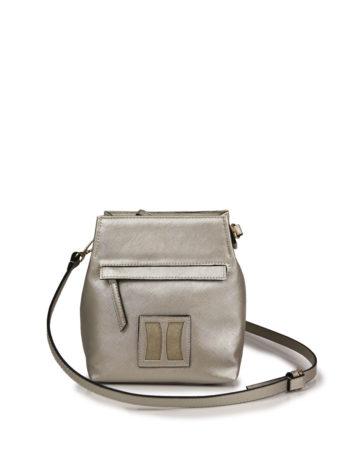 Γυναικεία τσάντα χιαστί F Ασημί