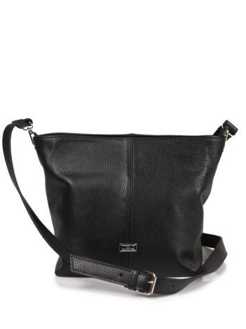Γυναικεία τσάντα δερμάτινη χιαστί Μαύρο