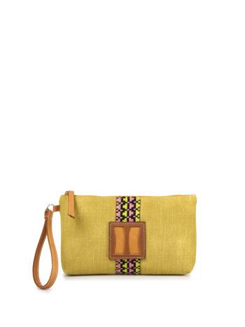 Γυναικεία τσάντα χειρός MJ Κίτρινο
