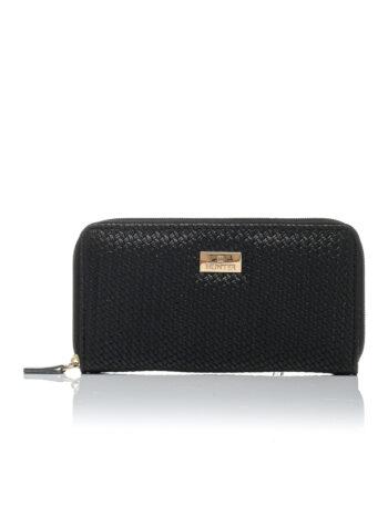 Γυναικείο πορτοφόλι Straw Μαύρο