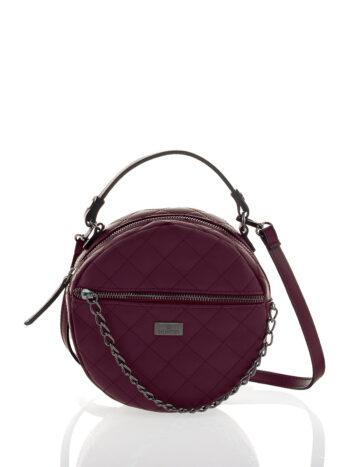 Γυναικεία τσάντα round Ariadne Μπορντώ
