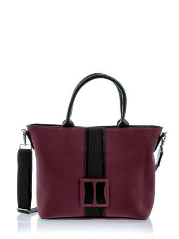 Γυναικεία τσάντα ώμου-tote Penelope Μπορντώ