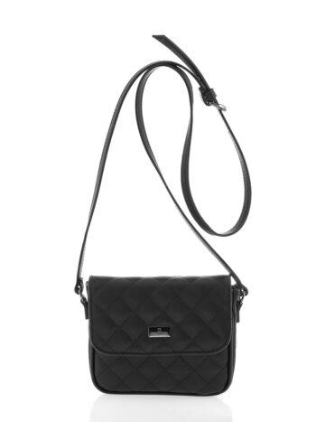 Γυναικεία τσάντα χιαστί flap Ariadne Μαύρο