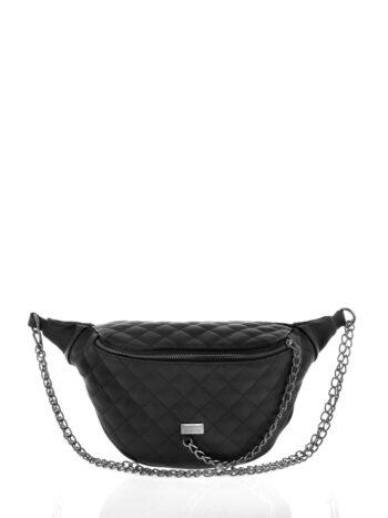 Γυναικεία τσάντα μέσης με αλυσίδες Ariadne Μαύρο