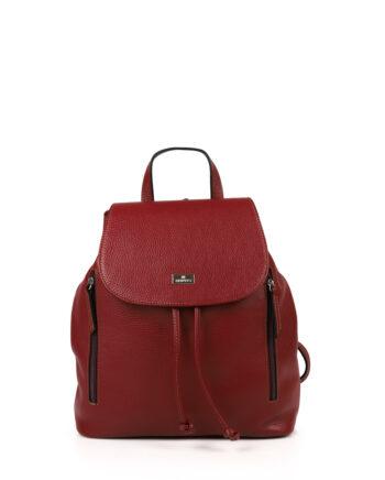 Γυναικεία τσάντα πλάτης δερμάτινη Μπορντώ