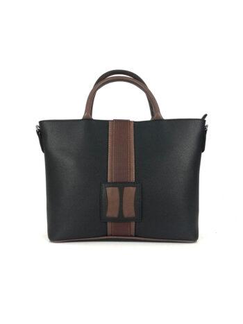 Γυναικεία τσάντα ώμου-tote Penelope Μαύρο