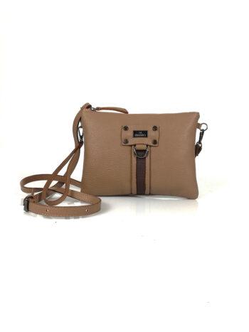 Γυναικεία τσάντα χειρός-χιαστί Themis Πούρο