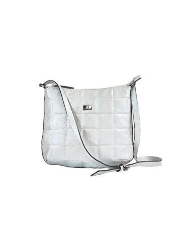Γυναικεία τσάντα ταχυδρόμου Anemone Ασημί