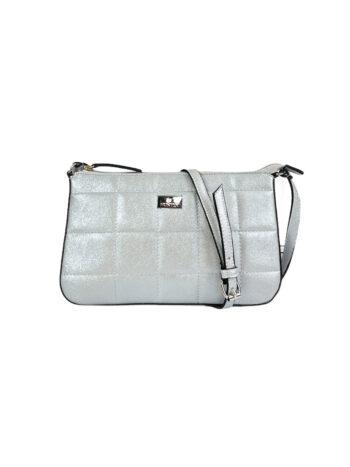 Γυναικεία τσάντα χιαστί Anemone Ασημί