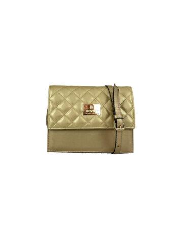Γυναικεία τσάντα χιαστί flap Ariadne Χρυσό