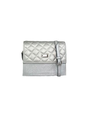 Γυναικεία τσάντα χιαστί flap Ariadne Ασημί