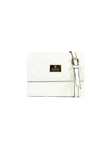 Γυναικεία τσάντα χιαστί flap Ariadne Λευκό