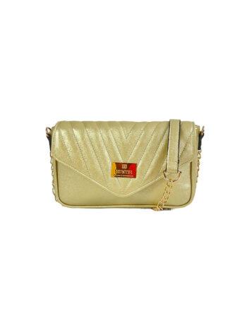 Γυναικεία τσάντα triangle Camelia Χρυσό