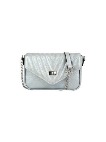 Γυναικεία τσάντα triangle Camelia Ασημί