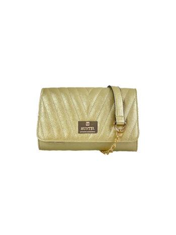 Γυναικεία τσάντα φάκελος Camelia Χρυσό