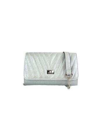 Γυναικεία τσάντα φάκελος Camelia Ασημί