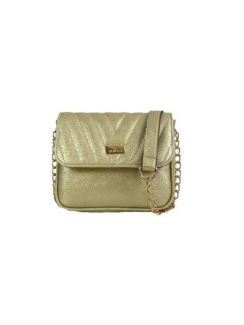 Γυναικεία τσάντα flap Camelia Χρυσό