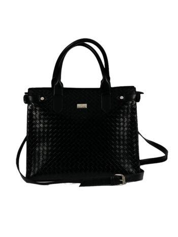 Γυναικεία τσάντα ώμου tote Dahlia Μαύρο