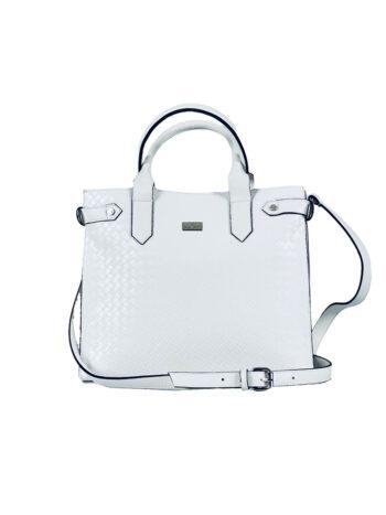 Γυναικεία τσάντα ώμου tote Dahlia Λευκό