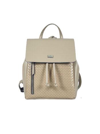 Γυναικεία τσάντα πλάτης πουγκί Dahlia Μπεζ