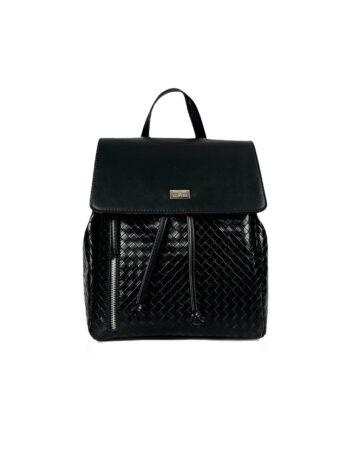Γυναικεία τσάντα πλάτης πουγκί Dahlia Μαύρο