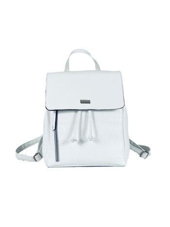 Γυναικεία τσάντα πλάτης πουγκί Dahlia Λευκό