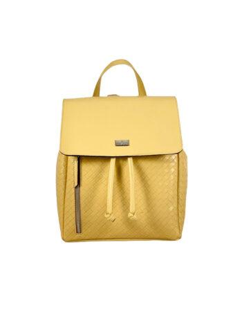 Γυναικεία τσάντα πλάτης πουγκί Dahlia Κίτρινο