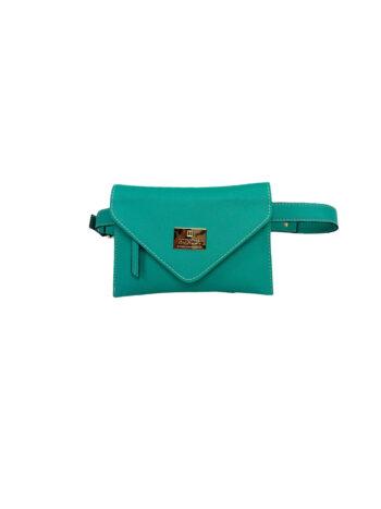 Γυναικεία τσάντα μέσης envelope Colori Πετρόλ