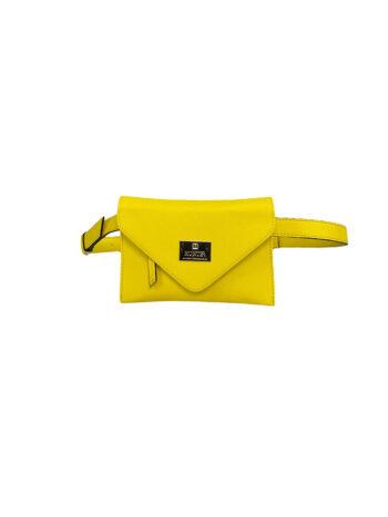 Γυναικεία τσάντα μέσης envelope Colori Κίτρινο
