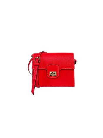 Γυναικεία τσάντα flap Colori Κοραλί