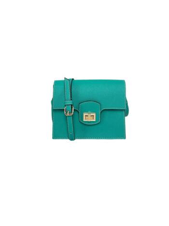 Γυναικεία τσάντα flap Colori Πετρόλ
